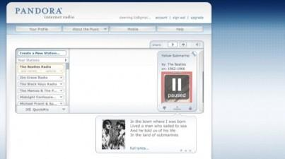 Pandora – позволил слушать любимую музыку в Интернете