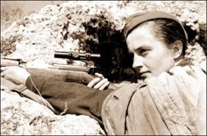 Людмила Павличенко (12 Июля, 1916 – 10 Октября, 1974)