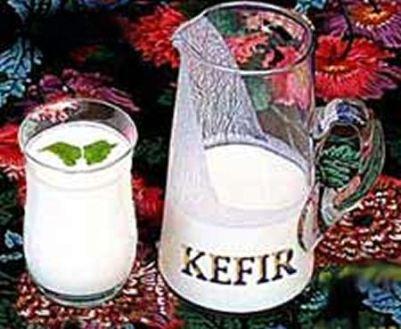Кефир и кисломолочные продукты.